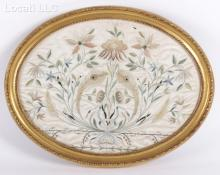 An American 19th Century Needlework Picture