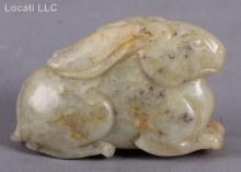A Chinese Jade Figure of a Rabbit