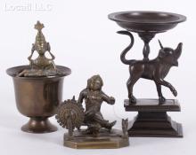 Three Indian Bronze Items