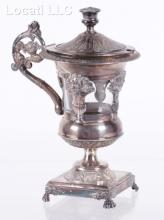 A 19th Century French Silver Plated Mustard Pot