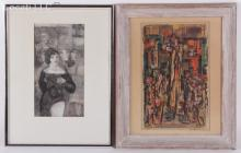 Estate Lot of Art: Two Works Including Ralph Taylor
