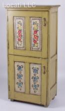 A Cupboard with Painted Decoration by Dorothy Wolfinger