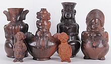 A Group of Precolumbian Style Pottery