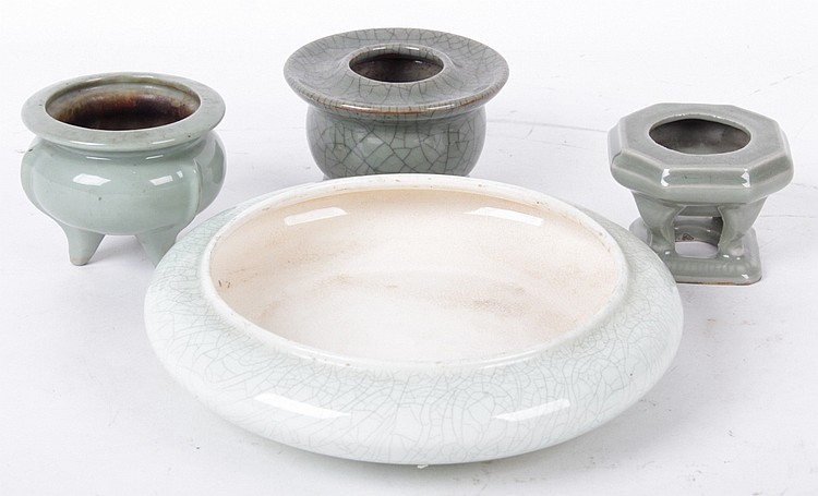 Four Pieces of Chinese Celadon Porcelain