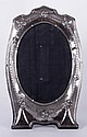 A Sterling Silver Table Mirror, English