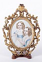 A 19th Century Portrait Miniature, Twin Young Girls