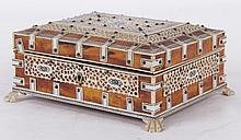 An Anglo-Indian Tortoiseshell and Ivory Box