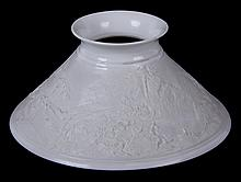 A 19th Century Porcelain Lithophane Shade