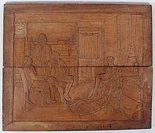 Jack Bookbinder (American, 1911-1993) Carved Wooden Panel, Patriotic Subject