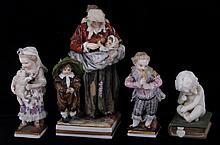 Four Porcelain Figures