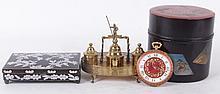 Estate Lot: Cloisonne, Lacquer, Brass Standish