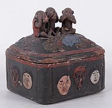 A Japanese Banko Ceramic Humidor