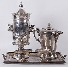 A Group of Good American Silver Plated Items, 19th Century
