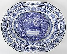 Three Pieces of Blue and White Wedgwood Transferware, Yale University
