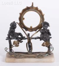 A 19th Century Watch Holder with Figural Decoration