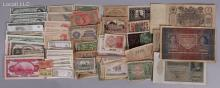 A Large Group of Foreign Paper Currency