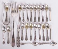 A Group of Assorted Silver Flatware