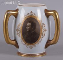 A Lenox Belleek Loving Cup