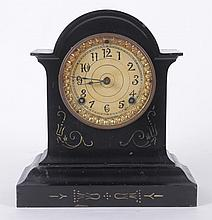An American Cast Iron Shelf Clock