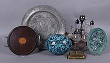 Estate Lot: Various Items, Cruet Set, Persian Egg, Etc...