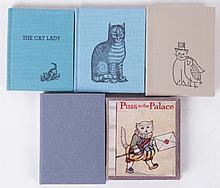 Five Miniature Books Regarding Cats Including