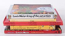 Nine Books Regarding Louis Wain, Mostly Non-Fiction