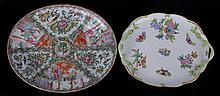 Estate Lot: Two Platters, Herend and Rose Medallion