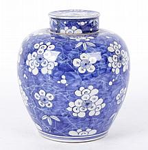 A Chinese Porcelain Ginger Jar, Hawthorne Pattern