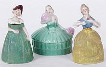 Two German Porcelain Figural Perfume Bottles