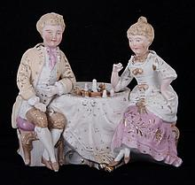 A German Bisque Figural Group, Nodders