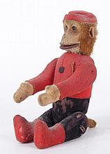 An Early 20th Century Mechanical Mohair Monkey