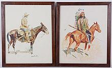 Two Remington Lithographs, 20th Century