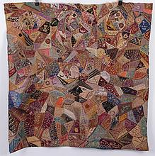 A 19th Century Crazy Crib Quilt