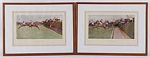 Pair of Horse Racing Themed Prints