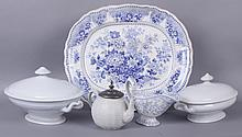 Estate Lot: 19th Century Pottery Including Ironstone, Transferware
