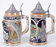 Two German Musical Steins