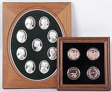 A Group of Sterling Silver Medallions Depicting U.S. Presidents
