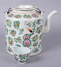 A Large Chinese Export Porcelain Teapot