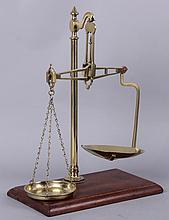 A Late 19th Century Brass Balance Scale