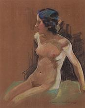 Milmer G. Richter (American, Early 20th Century) Pastel