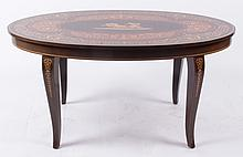 An Inlaid Italian Coffee Table, 20th Century