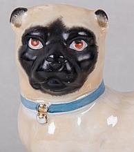 A German Porcelain Figure of a Pug