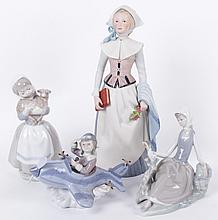 A Group of Porcelain Including Lladro