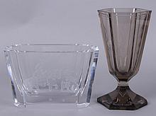 Two Pieces of Scandinavian Art Glass