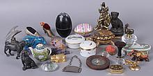 Estate Lot: Various Items Including Porcelain Boxes, Animal Figures, Etc...