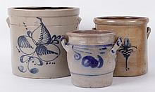 Three 19th Century Stoneware Crocks