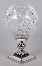 A Waterford Times Square Collection Candlestick and Globe