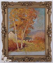 Theodore K. Gramm (American, 20th Century) Oil on Board