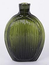 An American Mold Blown Glass Flask