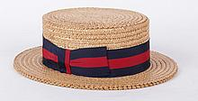 An Early 20th Century Straw Boater Hat